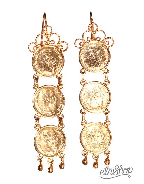 5dcd30457b12 Aretes Istmeños de Monedas
